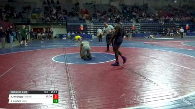 174 lbs Consi of 8 #1 - Khamari Whimper, Univ Of Pennsylvania vs Jared Leidich, Eastern Michigan