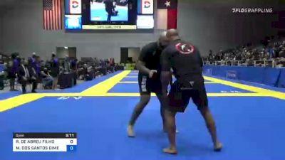ROBERTO DE ABREU FILHO vs MAX DOS SANTOS GIMENIS 2021 World IBJJF Jiu-Jitsu No-Gi Championship