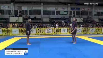 ELDER ALEXANDER CRUZ vs FELIPE PORTO SCHIAVON 2021 Pan IBJJF Jiu-Jitsu No-Gi Championship