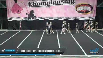CDX Elite - L2 - CheerABILITIES - Exhibition [2021 Enforcers] 2021 ACP Disco Open Championship: Trenton