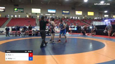 130 kg 5th Place - Gavin Nye, CSU Pueblo Wrestling RTC vs Owen Miller, Olivet Wrestling Club