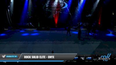 Rock Solid Elite - Onyx [2021 L3 Junior - D2 - Small Day 1] 2021 The U.S. Finals: Pensacola
