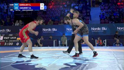 97 kg 1/2 Final - Abdulrashid Sadulaev, Russian Wrestling Federation vs Mahamed Zakariiev, Ukraine