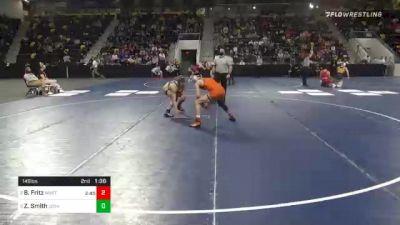 149 lbs Semifinal - Brady Fritz, Wartburg College vs Zeke Smith, Loras College
