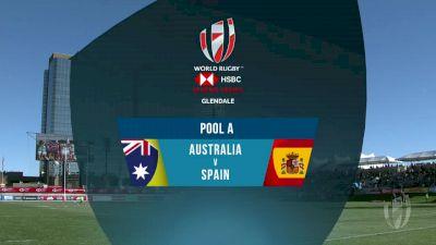 Australia 7s vs Spain 7s Pool A | 2018 HSBC Women's 7s Colorado