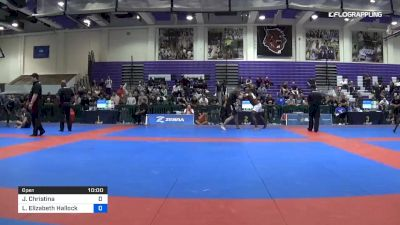 Jessica Christina vs Laurah Elizabeth Hallock 2019 Pan IBJJF Jiu-Jitsu No-Gi Championship