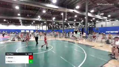 74 lbs 2nd Place - Tanner Stone, Illinois Gladiators vs Ian Maize, DC Elite