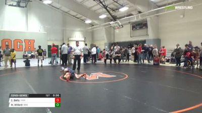 55 lbs Consolation - Chase Beltz, Virginia Wrestling Academy vs Mason Willard, B&O Outlaws