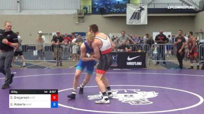63 kg Rr Rnd 1 - Dylan Gregerson, Utah Valley RTC vs Dalton Roberts, NYAC/NMU