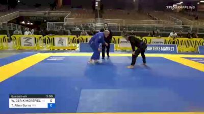WILLIAM DERIK MOREFIELD vs Trevor Allen Burns 2020 World Master IBJJF Jiu-Jitsu Championship