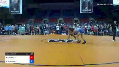 126 lbs Quarterfinal - Mason Gibson, Pennsylvania vs Nick Gorman, Pennsylvania
