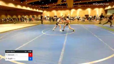 106 lbs Consolation - Travis Clawson, Lancaster Alliance Wrestling Club (LAW) vs Carson Dupill, Virginia