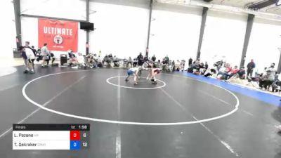 43 kg Final - Leo Pezone, Malvern Prep vs Tyler Dekraker, Gitomer
