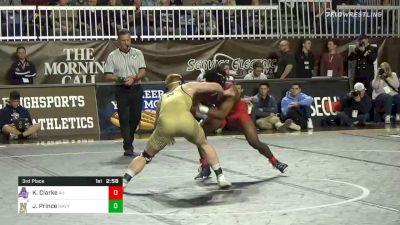 149 lbs 3rd Place - Kizhan Clarke, American vs Jared Prince, Navy