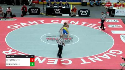 182 lbs Final - Donovan McMillon, Peters Township vs Gerrit Nijenhuis, Canon-McMillan