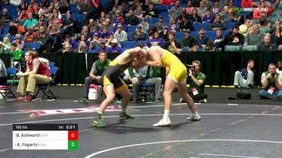 165 lbs Semifinal - Branson Ashworth, Wyoming vs Andrew Fogarty, North Dakota State