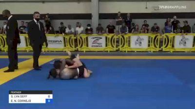 SAMANTHA LYN SEFF vs ELIZABETH N. CORNEJO 2021 Pan IBJJF Jiu-Jitsu No-Gi Championship