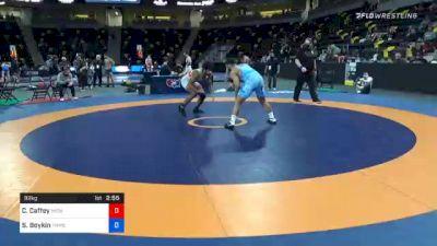 92 kg Quarterfinal - Cameron Caffey, Michigan Wrestling CLub vs Scottie Boykin, TMWC/ Spartan Combat RTC
