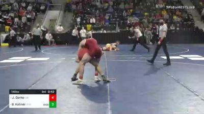 149 lbs Semifinal - Josh Gerke, Coe College vs Brett Kaliner, Stevens Institute Of Technology