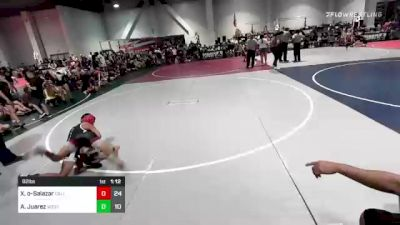 82 lbs Rr Rnd 3 - Xamian Muñoz-Salazar, Cali Red vs Anthony Juarez, West Coast Riders