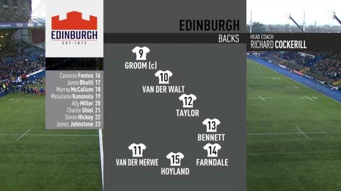 Edinburgh Rugby vs Cardiff Blues