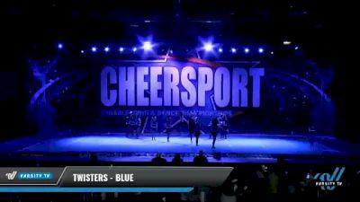 Twisters - Blue [2021 L2 Junior - Small - B Day 1] 2021 CHEERSPORT National Cheerleading Championship