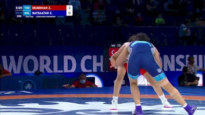 50 kg Semifinal - Zehra Demirhan, TUR vs Enkhzul Batbaatar, MGL