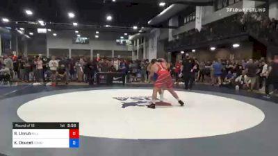 125 kg Prelims - Robbie Unruh, Bulls Wrestling Club vs Konner Doucet, Cowboy RTC