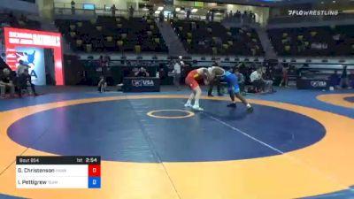 92 kg Quarterfinal - Gabe Christenson, Hawkeye Wrestling Club vs Isiah Pettigrew, Team Poeta