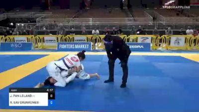JAMIE PAN LELAND vs RACHNA EAV GRUNKEMEIER 2020 World Master IBJJF Jiu-Jitsu Championship