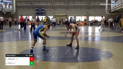 Semifinal - Luke Werner, Lock Haven Unattached vs Jake Ferri, Kent State Unattached