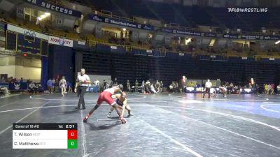 141 lbs Consolation - Tariq Wilson, NC State vs Cole Matthews, Pittsburgh
