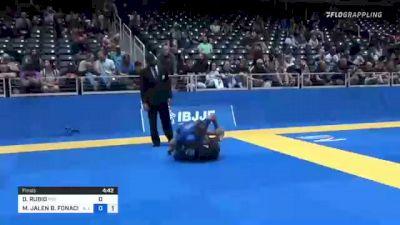 DESMOND RUBIO vs MICHAEL JALEN B. FONACIER 2021 World IBJJF Jiu-Jitsu No-Gi Championship