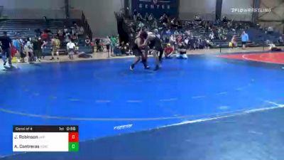 235 lbs Consolation - Justus Robinson, Jr. War Eagles Wrestling Club vs Andres Contreras, South Georgia Athletic Club