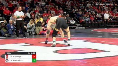 165 lbs Quarterfinal - Danny Braunagel, Illinois vs Alex Marinelli, Iowa