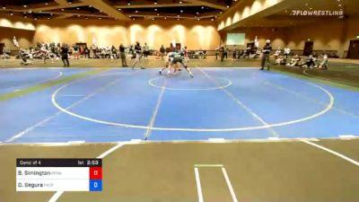 74 kg Consolation - Brinton Simington, Pennsylvania vs Daniel Segura, Patriot Elite Wrestling Club