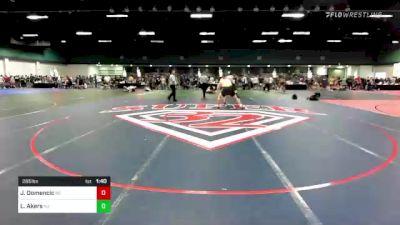 285 lbs Consi Of 16 #2 - John Domencic, NC vs Liam Akers, NJ