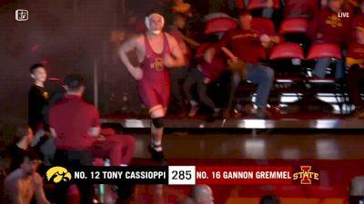 285 lbs - Anthony Cassioppi, Iowa vs Gannon Gremmel, Iowa State