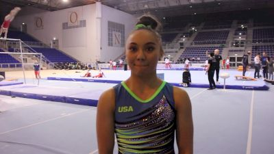 Interview - Emma Malabuyo (USA) - Training Day 3, 2019 City of Jesolo Trophy