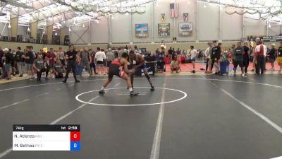 74 kg Round Of 32 - Nathan Atienza, Michigan State vs Maaziah Bethea, PRTC