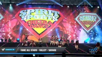 FAME All Stars - Valley - SAVAGE [2021 L5 Junior Day 2] 2021 Spirit Sports: Battle at the Beach