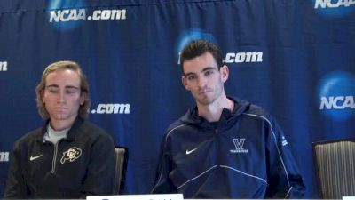 Patrick Tiernan, Martin Hehir asked strategy on taking down Cheserek, Colorado respectively
