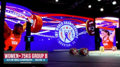 IWF World Championships W 75+kg B Session Snatch