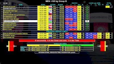 IWF World Championships M 105+kg B Session Clean & Jerk