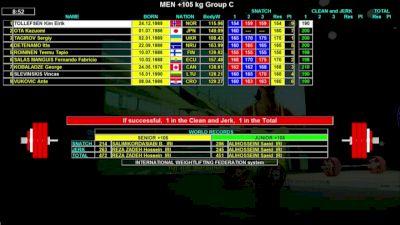 IWF World Championships M 105+kg C Session Clean & Jerk