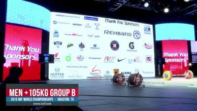 IWF World Championships M 105+kg B Session Snatch