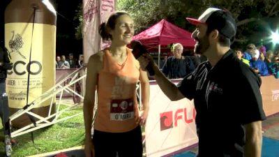 FloTrack Beer Mile Champion Erin O'Mara $5K Check Presentation