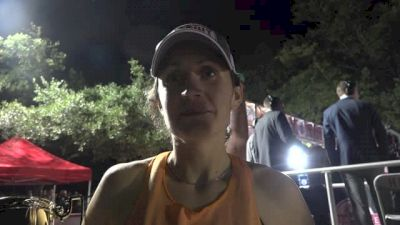 Erin O'Mara after breaking the beer mile world record!