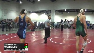 157 Round of 64 Aaron Walker (The Citadel) vs. Colton Shorts (Cal Poly)