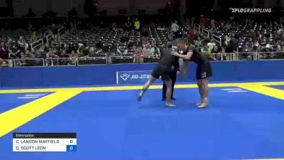 CLAY LANDON MAYFIELD vs DANTE SCOTT LEON 2021 World IBJJF Jiu-Jitsu No-Gi Championship